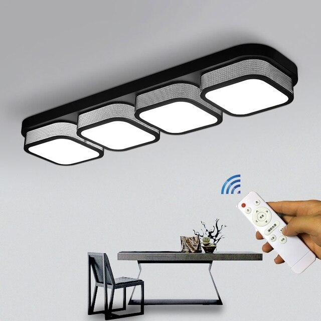 LED סלון מטבח תקרת אורות שלט רחוק ניתן לעמעום אמבטיה Plafon שינה אוכל תאורת מנורות מודרני קישוט