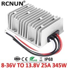 Régulateur de tension automatique 8 36V vers 13.8 V, 15a 20a 25a DC, convertisseur de tension 12 V vers 13.8 V, pour voitures, panneaux solaires, CE RoHS