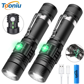 USB Rechargeable LED Flashlight Super Bright 3 Lighting Mode Tactical Torch Waterproof Zoom Outdoor Light Using 18650 Battery 10000lums led l2 red tactical flashlight super bright usb rechargeable torch clip hunting light waterproof for 18650 battery set