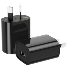 10 adet USB güç adaptörü 5V 1A avustralya yeni zelanda AU fiş duvar şarj cihazı tek USB için iPhone için samsung akıllı telefon