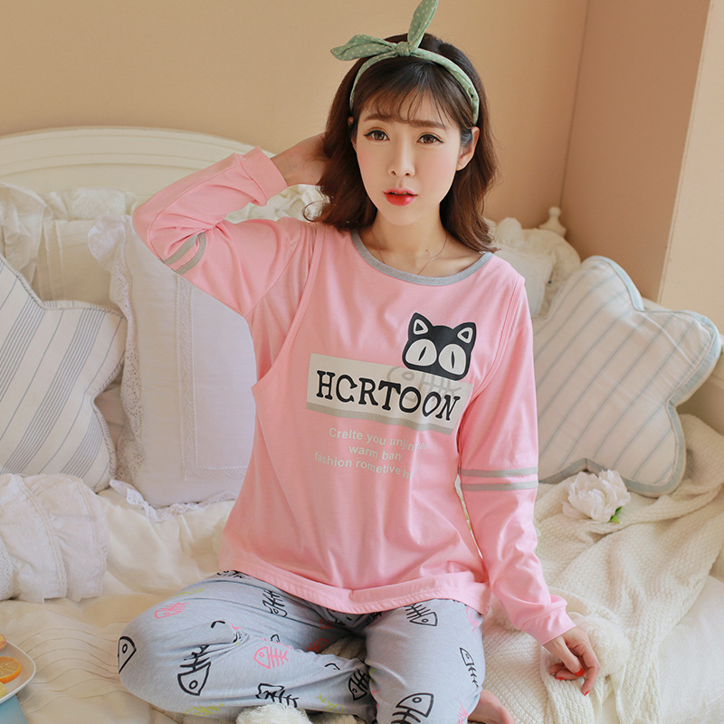 Pregnant Women Confinement Clothing WOMEN'S Dress Japanese Korean Hoodie Pajamas Spring And Autumn Postpartum Lactation Garment