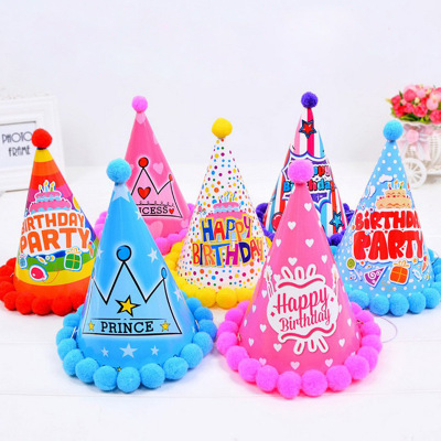 1Pcs Children's Decorative Hat Creative Festival Props Makeup Toys Fashion Birthday Party Decoration Paper Hats