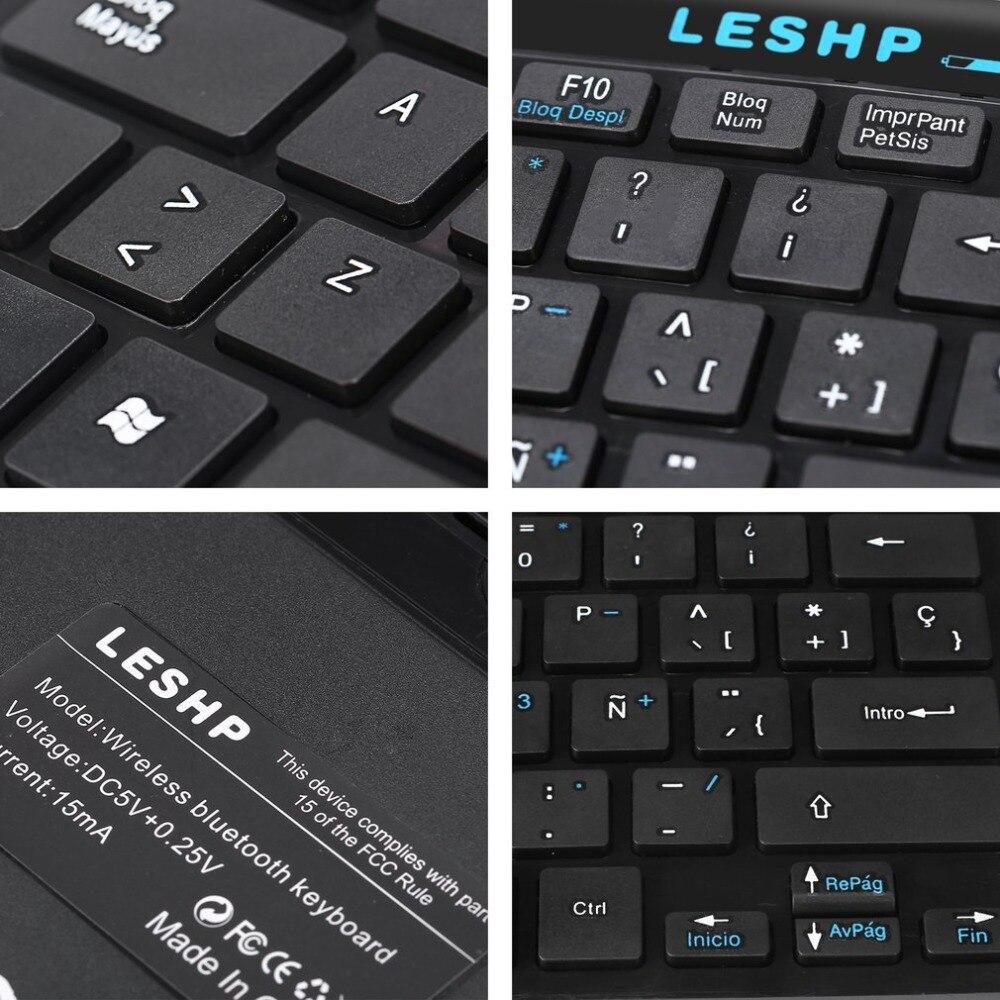 Универсальная компактная прочная тонкая портативная беспроводная клавиатура Bluetooth 3,0 со встроенным перезаряжаемым аккумулятором
