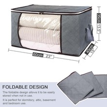 3pcs clothing home storage bag three-layer thickened moisture-proof dust-proof toy clothing finishing storage bag