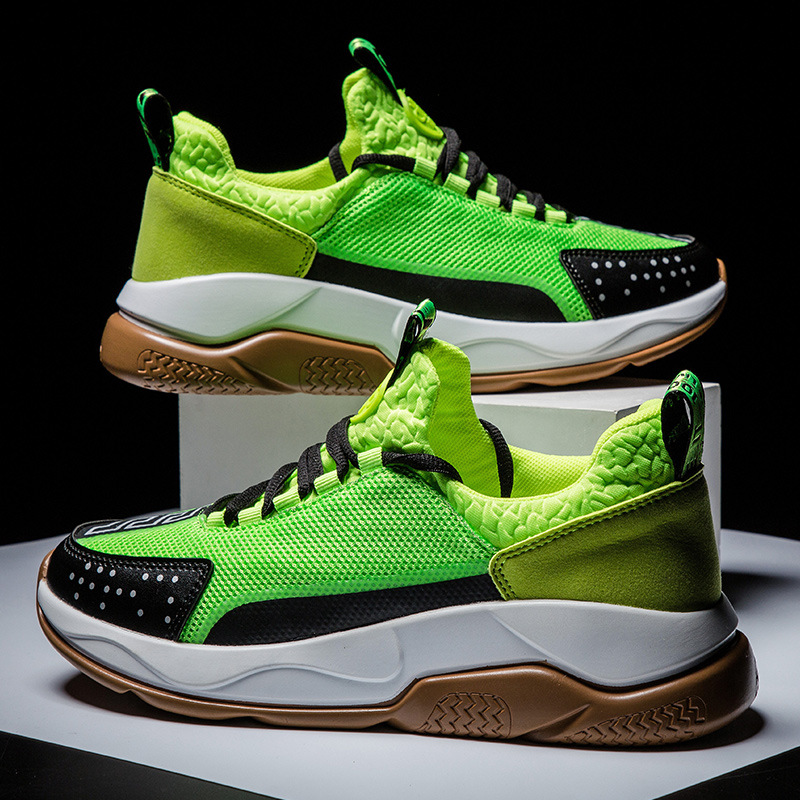 Sneakers Shoes Men Neon Green Lightweight Breathable Mesh Sneakers Men Wear resistant Running Sports Shoes Zapatillas Hombre|Running Shoes| |  - title=