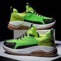 Turnschuhe Schuhe Männer Neon Grün Leichte Atmungsaktive Mesh Turnschuhe Männer Tragen beständig Laufschuhe Sport Schuhe Zapatillas Hombre-in Laufschuhe aus Sport und Unterhaltung bei