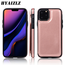Wallet Back Case for iPhone 11 Pro Max XS XR X 5 7 8 6S Plus Slim Cover Flip Pu Leather Card Slots Bracket Magnetic Phone Fundas 3 card slots wallet crazy horse leather mobile case for iphone 7 plus 5 5 brown