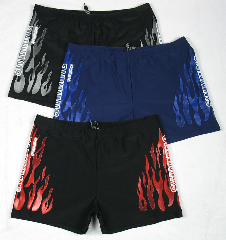 Men AussieBum Hot Springs Swimming Trunks Large Size Swimming Trunks Flame Swimming Trunks