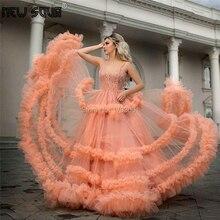 Elegant Tiered Lange Avondjurk Prom Jurken Robe De Soiree 2020 Couture Dubai Party Prom Dress Kaftans Midden oosten Pageant