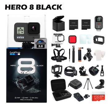 Oryginalny Gopro Hero 8 czarny wodoodporny aparat akcji 4K Ultra HD wideo 12MP zdjęcia 1080p transmisja na żywo Go Pro Hero8 kamera sportowa tanie i dobre opinie Omni GPCV1247 GP1 Chip 1220mah 1 2 3 cali Profesjonalne Elektroniczny stabilizacja obrazu 170 ° Microsd tf Hero 8 Black