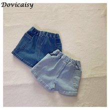 Summer girls short New Toddler Baby Girl Casual Fashion Denim Shorts Kid Girl Pocket Decoration Thin Breathable Shorts