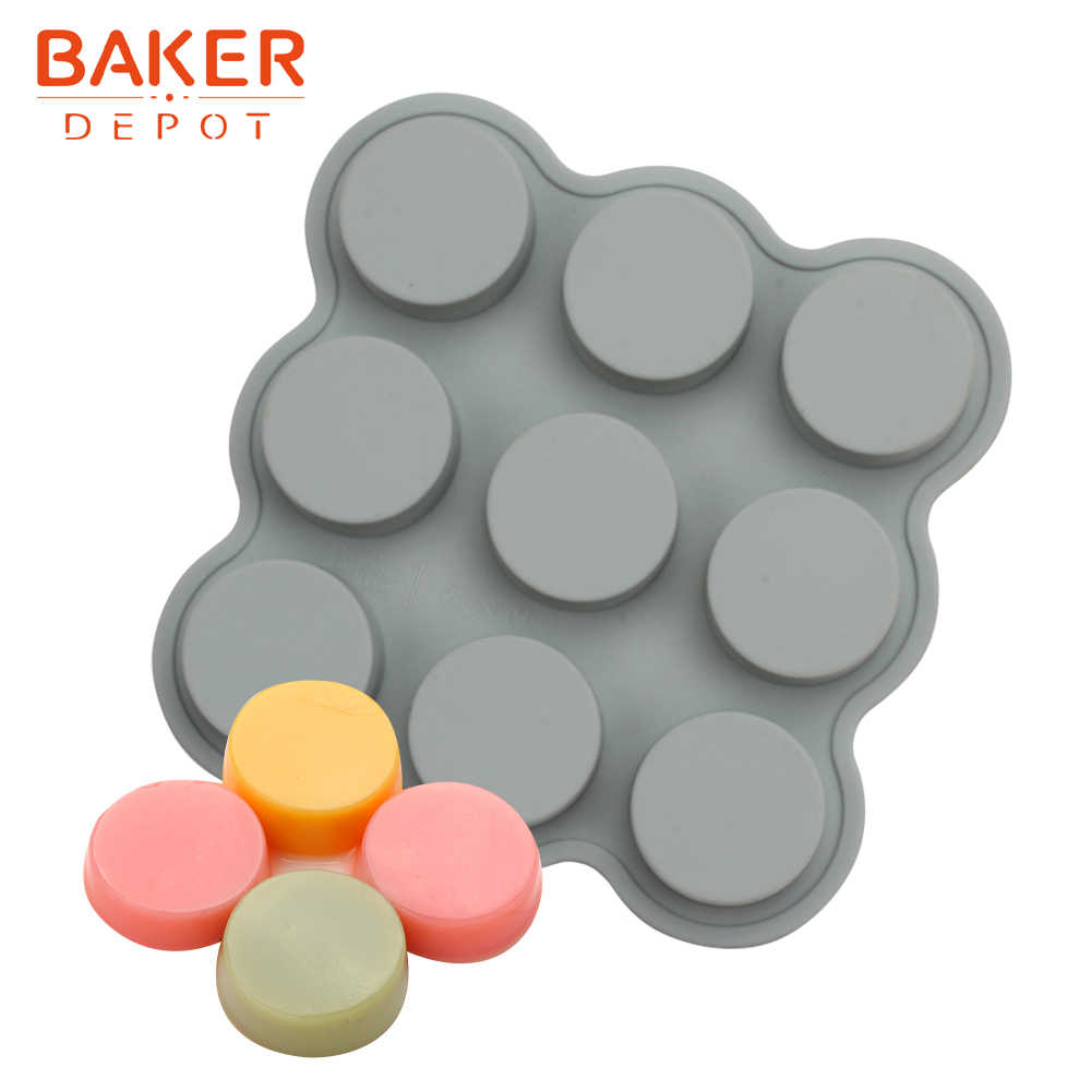 BAKER DEPOT disco stampo In Silicone per la torta della pasticceria rotondo resina sapone fatto a mano strumento di strumento di decorazione della torta budino di pane forma di ghiaccio