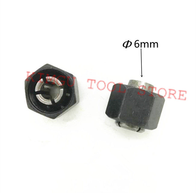 Iron Chuck Cap Nut Parts Collet  6mm Cones Replace For Makita 193012-1 763645-2  GD0800C GD0810C GD0811