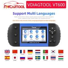VDIAGTOOL araç teşhis VT600 OBD2 tarayıcı aracı motor ABS SRS EPB yağ servis sıfırlama enjektör kodlama OBD2 PK NT650 CRP123 129E