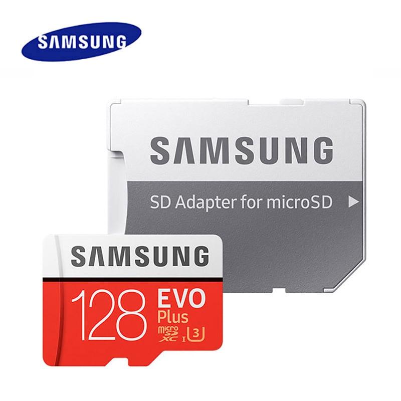 Original SAMSUNG tarjeta Micro SD de 128GB Clase 10 tarjeta de memoria EVO + EVO Plus microSD 512GB 256GB 64GB Tarjeta de 8GB TF cartao de memoria