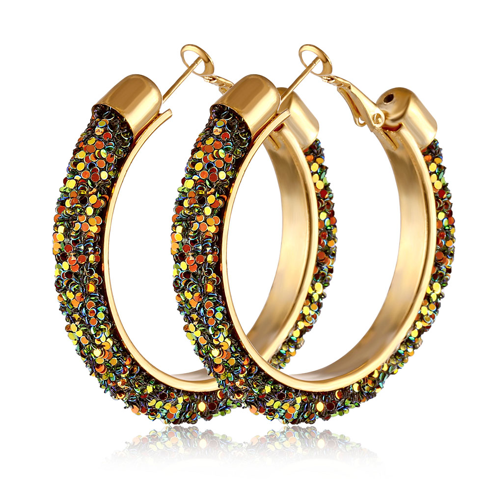 IPARAM, новинка, большие круглые серьги-кольца для женщин, модные, массивные, золотой, в стиле панк, очаровательные серьги, вечерние ювелирные изделия - Окраска металла: IPA0108-5