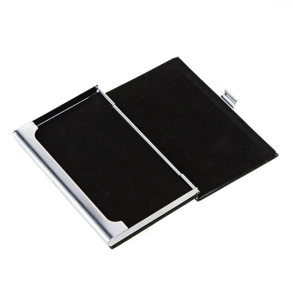 Fashion Luxury Waterproof Stainless Steel PU Leather Case Box Vintage Business Name ID Credit Card Holder Case Cover
