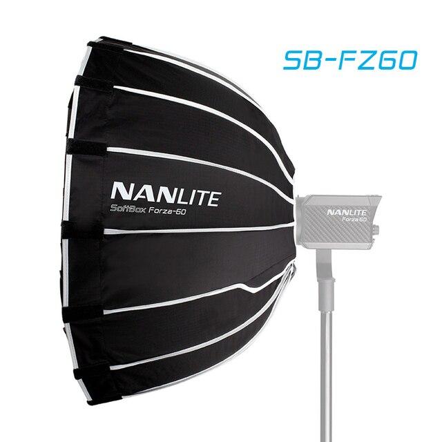 Nanguang SB FZ60 60 ซม.Softbox สำหรับ Nanguang Forza 60 ร่มอ่อนแสงกล่อง Bowen Mount รอบ