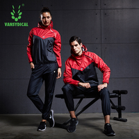 VANSYDICAL Gym Clothing Set Mens Womens Sportswear Running Fitness Training Weight Loss Sweating Sauna Sports Suit