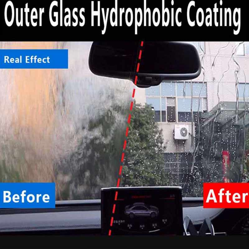 50 ミリリットル防水防雨防曇剤ガラス疎水性ナノコーティングスプレー車のフロントガラス浴室ガラス