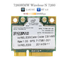 Banda dupla sem fio n 7260hmw um intel 7260 wifi bluetooth 4.0 cartão para computador portátil wlan placa de rede