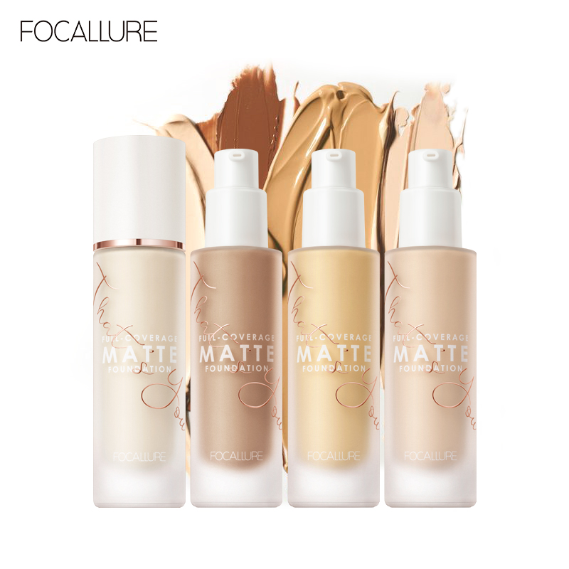 Focallure full coverage foundation Long-wear Matte Finish Flawless fade blemishes buttery soft 20 shades even skin tone image