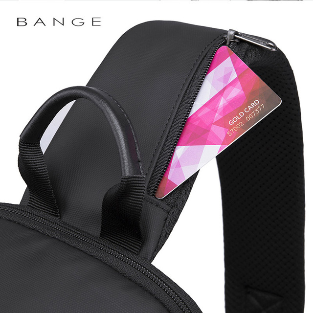 Bange New Multifunction USB Recharge Crossbody Bag for Men Shoulder Messenger Bags Male Waterproof Short Trip Chest Bag Pack 3
