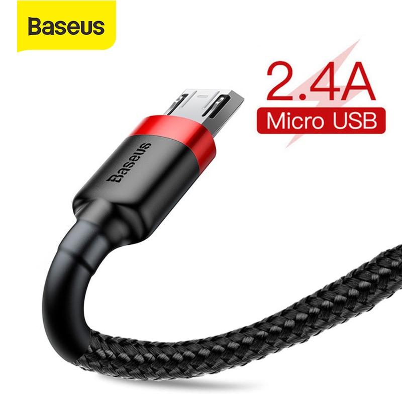 Câble de données USB de Charge rapide de câble Micro dusb de Baseus 2.4A pour le téléphone portable Android cordon de Charge dusb pour Samsung Xiaomi Huawei