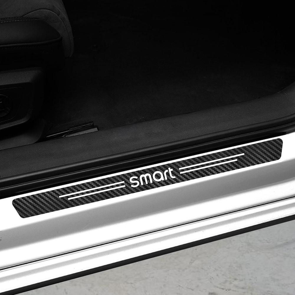 Автомобильные аксессуары для Mercedes Benz Smart Fortwo EQ Cabrio Forfour Preis W453 W451 4 шт. наклейки на пороги автомобиля из углеродного волокна