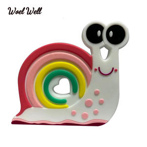Woel Well 1Pcs Silicone Teether snails Baby Teether Toy BPA Free Chewable Silicone Teething Toys For Infant Gift Baby Care