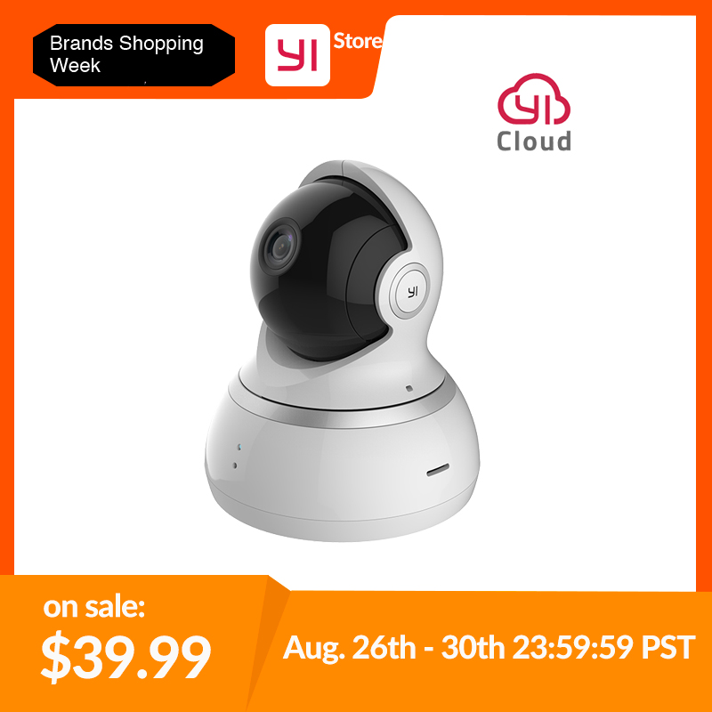 YI 1080P Dome Camera Night Vision International Version Pan
