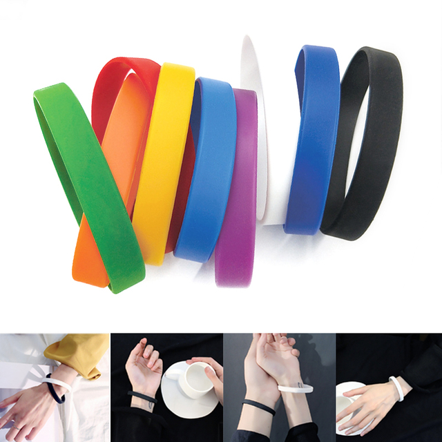 Basketball Sports Wristbands Couple Cuff Bracelet Silicone Rubber Wristband Flexible Wrist Band Casual Bangle for Team