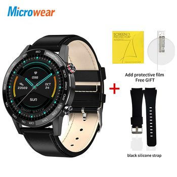 Microwear L16 Smart Watch Men Sports Fitness Tracker IP68 Waterproof Heart Rate Monitor Android IOS Full Touch Screen Smartwatch 14