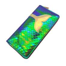 KANDRA New Hologram Mermaid Wallets Coin Purse Zipper Cute Ladies Card Holders Women Long Christmas Gift Wholesale