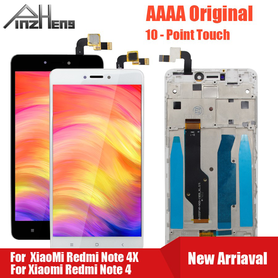 PINZHENG AAAA Original <font><b>Screen</b></font> LCD For <font><b>Xiaomi</b></font> <font><b>Redmi</b></font> <font><b>Note</b></font> <font><b>4</b></font> 4X Display For Snapdragon 625 MTK Helio X20 Replacement LCD Display image
