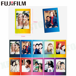 Image 5 - 10 sheets Fuji Fujifilm instax mini 11 9 8 white Edge films Colour Fims for instax camera MONOCHROME Rainbow Macaron cartoon