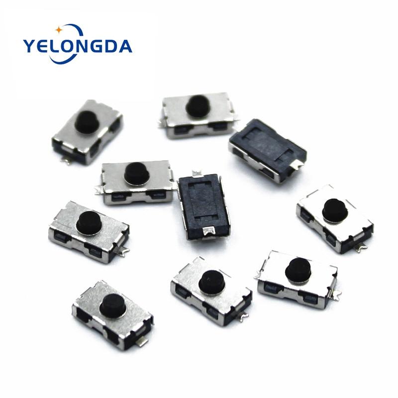 100 pces 3x6x2.5 nc micro interruptor normalmente fechado 3*6 smd toque sílica gel botão chaves interruptor 4*6 nc botão macio smd