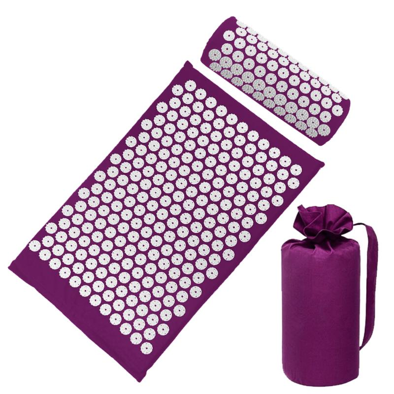 Acupressure Massage Mat with Pillow set to body Relaxation to Release Stress and Tension 46
