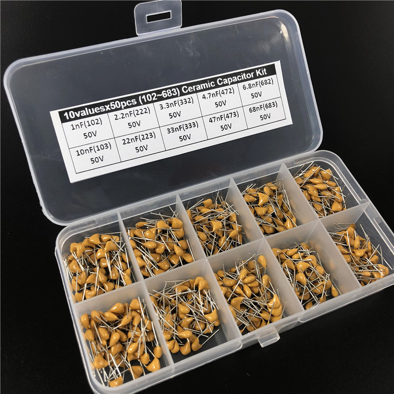 US Seller Fast Ship 610 pcs Ceramic Capacitor Assortment Set 61 Values 10 Each
