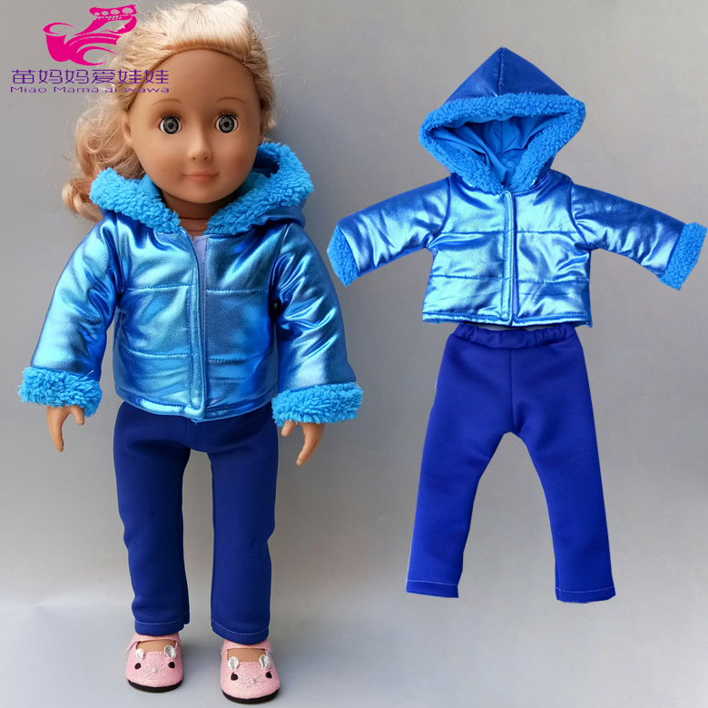 18 Inch Doll Clothes Fur Coat Windbreaker Leggings For 43cm Baby New Born Doll Jacket Zipper Winter Clothes Bebe Doll Clothes