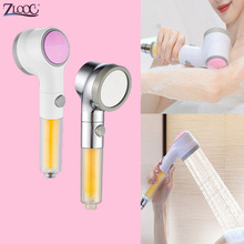 Zloog High Pressure Shower Head Stop Button Skin Care Booster Nozzle Massage Bath Pure Combo Aromatherapy