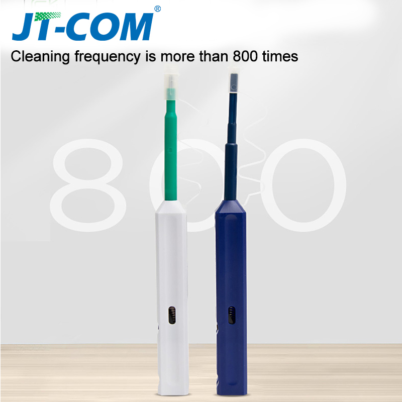 LC/SC/FC/ST One-Click Cleaner Tool 1.25mm 2.5mm Fiber Optic Cleaning Pen 800 Cleans Universal Connector Fiber Optic Cleaner