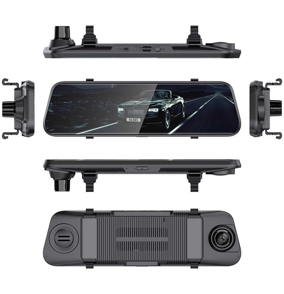努力 & bj 4 グラム ram 2 グラム/rom 32 グラム 10 ''スマートミラーダッシュカムデュアル 1080 1080p レンズ車 dvr gps トラックタッチスクリーンビデオレコーダー自動カメラ