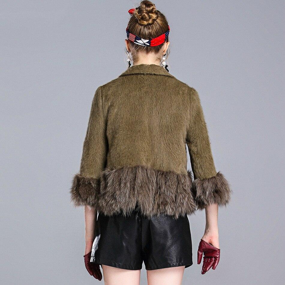 Fox Fur Collar Coat Female Jacket Autumn Winter Coat Women Clothes 2020 Korean Vintage Short Tops Manteau Femme ZT4859
