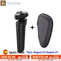 XIAOMI-Afeitadora eléctrica Showsee IPX7 para hombres, afeitadora impermeable en seco y húmedo, 3 hojas flotantes, carga tipo C, para Barba