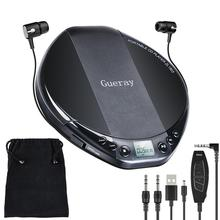 Portable CD Player LCD Display Sports Walkman Disc Player With AUX Cable Shockproof HiFi