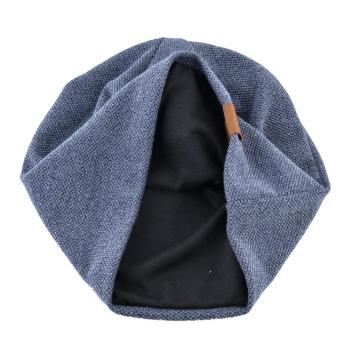 Knitted wool hats For men winter beanies double layer Turban hat Casual Unisex Hip Hop