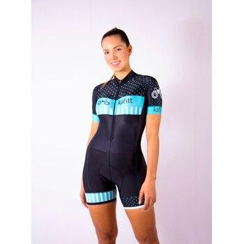 2020kafitt mujeres apretado Mono para triatlón Ciclismo Jersey conjuntos Macaquinho Ciclismo femenino...