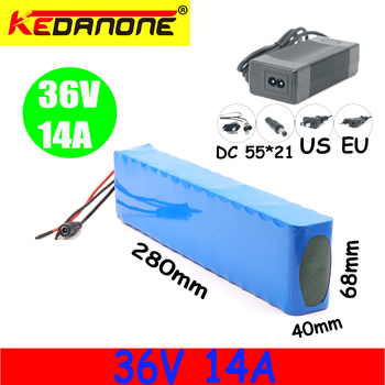 E-bike 36V 14ah Battery for e-bike Battery pack 18650 lithium battery Battery pack 500W high power Power and Capacity 42V 14000 image