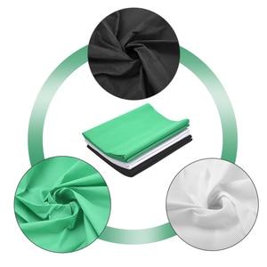 Image 4 - ZUOCHEN fotoğraf stüdyosu arka plan desteği stant kiti siyah beyaz yeşil ekran zemin seti